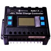 Napelem töltővezérlő 30 amper / 12V / 24V kék