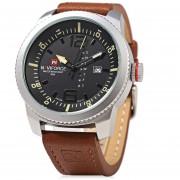 Caso De Plata NAVIFORCE NF 9063M Hombre Reloj De Cuarzo Reloj De Pulsera Resistencia (Negro)