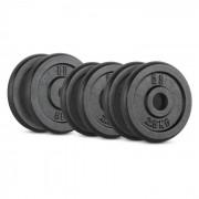 IPB 20 kg Conjunto de Placas de Peso 4 x 2,5kg + 2 x 5kg 30mm