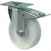 Kelfort Zwenkwiel 155mm, polyamide wiel en rem
