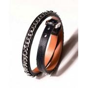 L'Homme Invisible Tour De Force 1 Bracelet Black/Silver BR01-MAC-001