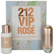 Carolina Herrera 212 VIP Rosé lote de regalo II. eau de parfum 80 ml + bálsamo corporal  200 ml