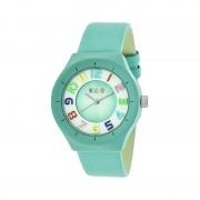 Crayo Atomic Leather-Band Watch - Turquoise CRACR3505
