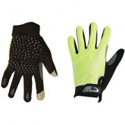 Mototrance Touch Recognition Full Finger All Season Outdoor Gloves - Large Size (Green)