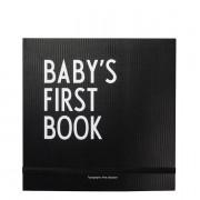 Baby?s first Book Babyalbum Schwarz Design Letters