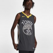Kevin Durant Statement Edition Authentic (Golden State Warriors) Nike NBA Connected Trikot für Herren - Schwarz