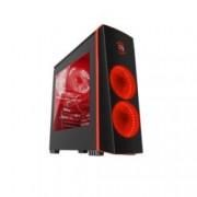 Кутия Genesis TITAN 700 RED, ATX, M-ATX, Mini-ITX, USB 3.0, 3x включени LED вентилатора, прозорец от закалено стъкло, черна/червена, без захранване