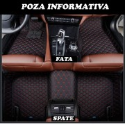 Covorase auto LUX PIELE 5D VW Sharan 2012-> ( 5D-035 cusatura rosie )
