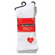 The Heart Sock White - 2 Pack - White 6-10