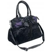 Banned Alternative Katebag Handtasche-schwarz lila Onesize Damen