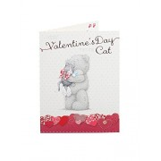 Me to You Happy Valentines Day From the Cat Valentine Kitty Card - Tatty Teddy