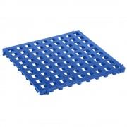 Kunststoff-Bodenrost, Polyethylen 500 x 500 mm, Standard, VE 20 Stk blau