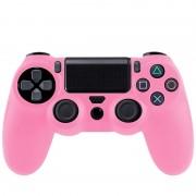 Flexible siliconen beschermings hoesje voor Sony PS4 Game Controller (roze)