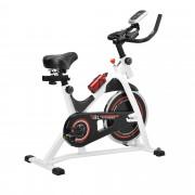 [in.tec]® Домашен велоергометър 115 x 50 x 110 см-бял, до 180 кг. с LCD дисплей