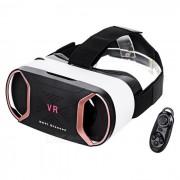 Gafas 3D de Realidad Virtual + Controlador Bluetooth - Negro + Oro Rosa