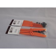 Generic Orange : 10 pair/Lot 5045 2-Blade CW/CCW Props for Mini Multi Rotor FPV Quadcopter Positive Negative Paddle Four Axis hexacopter Plastic