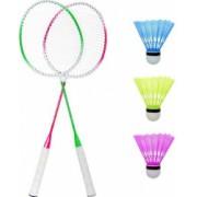 Set 2 rachete badminton/tenis cu 3 fluturasi si punga depozitare