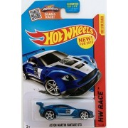 HOT WHEELS SCAN & RACE HW RACE BLUE ASTON MARTIN VANTAGE GT3 DIE-CAST
