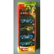 Matchbox 2003 5 Pack Looney Tunes (Red/Green Pack Daffy Duck, Bugs Bunny, Tweety, Taz, Wile E. Coyote)