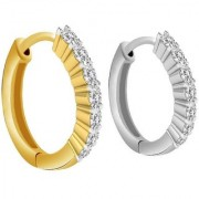 PeenZone 92.5 Silver Multi color Nose Ring Set For Women Girls