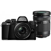 Aparat Foto Mirrorless Olympus E-M10 Mark II + Kit Double Zoom Obiectiv EZ-M1442EZ Pancake + Obiectiv EZ-M4015 R, 16.1 MP, Filmare Full HD (Negru)