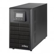UPS nJoy Aten PRO 3000, 3000VA/2700W, On-line, LCD Display, 3 Prize Schuko cu Protectie, Management, Tower, Dubla conversie, PWUP-OL300AP-AZ01B (NJOY)