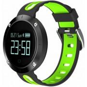 Bratara Fitness iUni DM58 Plus, Bluetooth, Display OLED, Notificari, Pedometru, Monitorizare puls, Waterproof (Negru/Verde)