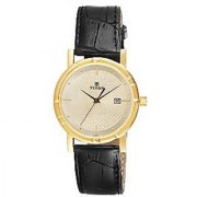 Titan Quartz Gold Dial Mens Watch-1639YL01