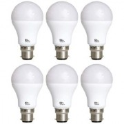 Philips Base B22 12-Watt LED Bulb (Pack of 6 Cool Day Light)
