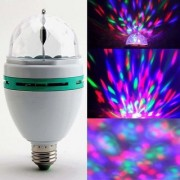 ROYALDEALSHOP 360 Degree LED Crystal Rotating Bulb Magic Disco LED Light LED Rotating Bulb Light Lamp for Party
