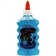 Elmers Glitter Glue 6 Ounce Bottle Blue Color