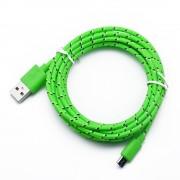 Cablu Date si Incarcare Micro Usb Cablu Panza Culoare Verde pt Telefon Tableta