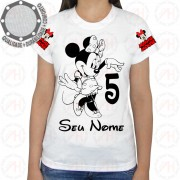 Camiseta Minnie Mouse Preto Branco