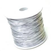 Corda elastico liscia argento 100 mt