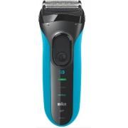 Aparat de ras Braun Series 3010, Wet&Dry, MicroComb (Negru-Albastru)