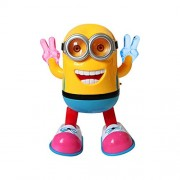 Rvold Musical Dancing and Walking Minions Toy with Colorful Lights and Sounds Toy for Kids (Color May Vary)