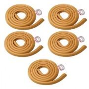 Kuhu Creations Premium Kid's Safety Furniture Edge Cushion Protector 2 meter Corner Bar Strips (5 Pcs Wooden).