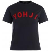 Y-3 T-shirt Y-3 in cotone nero con logo rosso applicato