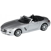 Mercedes-Benz SLS AMG Roadster Convertible, Silver - Maisto 31272 - 1/24 Scale Diecast Model Toy Car