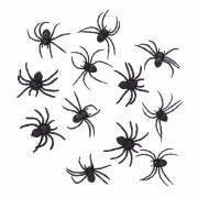 Geen 12 zwarte decoratie spinnetjes 8 cm