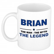 Bellatio Decorations Brian The man, The myth the legend cadeau koffie mok / thee beker 300 ml