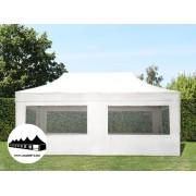 3x6m összecsukható pavilon ablakos Alutec Fehér (Economy)