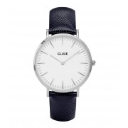 CLUSE Horloges La Boheme Silver Colored White Blauw