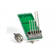 Set 5 burghie SDS-plus-5, mandrina cu cheie si adaptor SDS-Plus HITACHI
