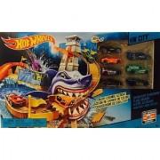 Hot Wheels 7 Color Shifters Color-Change Action Sharkport Showdown HW City