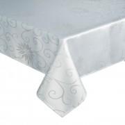 KEREK asztalterítő - abrosz 160 cm átmérő - fehér csigás mintával (252)