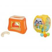 Spatiu de joaca gonflabil Ludi, 115 x 83 x 93 cm, PVC, bile incluse, 0 luni+, Multicolor