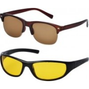 Freny Exim Sports, Clubmaster Sunglasses(Brown, Yellow)