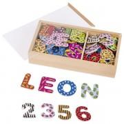 Set litere si cifre magnetice - multicolore, 88 piese