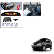 Auto Addict Car Silver Reverse Parking Sensor With LED Display For Hyundai Santro